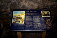 Signboard in the cellars of the Edinburgh Castle