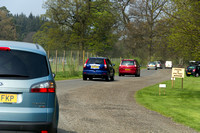 Cars at the entrance near the Blair Drummond Safari park in Scot