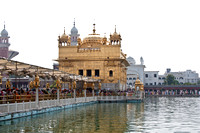 Causeway leading to the Golden Temple in India