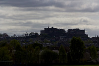 The splendor of Edinburgh Castle, located on a height overlookin