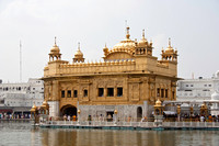 Darbar Sahib and Amrit Sarovar in the Golden Temple in India