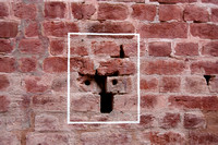 Bullet mark inside the Jallianwala Bagh in India
