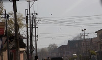 Profusion of electric wires on a Srinagar street