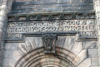 Inscription on the entrance of War memorial inside Edinburgh Cas