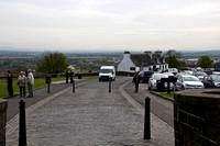 Van approaching the entrance of the Stirling Castle in Scotland